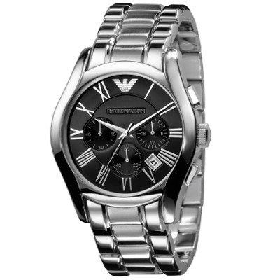 エンポリオアルマーニ腕時計/メンズ/AR0673/ブラックダイアル/クラシック/クロノグラフ