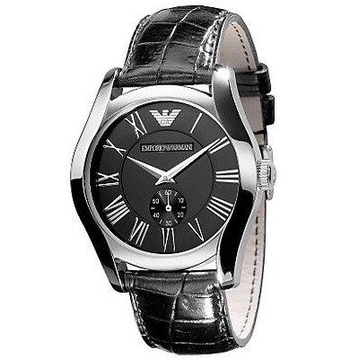 エンポリオアルマーニ腕時計/メンズ/AR0643/ブラックダイアル/クラシック/スモールセコンド