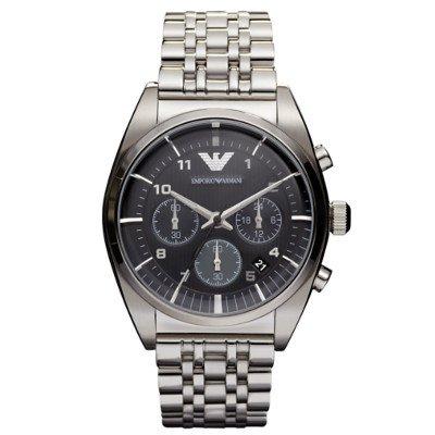 エンポリオアルマーニ腕時計/メンズ/AR0373/ブラックダイアル/クラシック/クロノグラフ