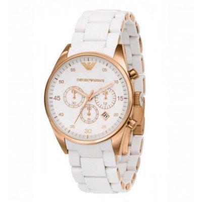 エンポリオアルマーニ腕時計/レディース/AR5920/ホワイトダイアル/スポーツ/クロノグラフ