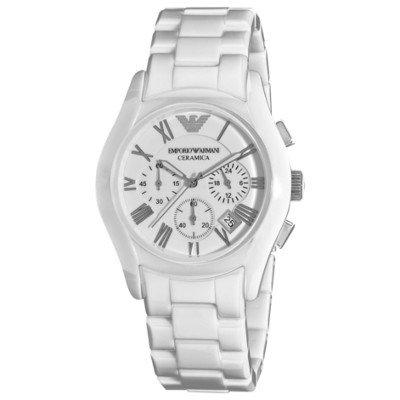 エンポリオアルマーニ腕時計/メンズ/AR1403/ホワイトダイアル/セラミカ/クロノグラフ