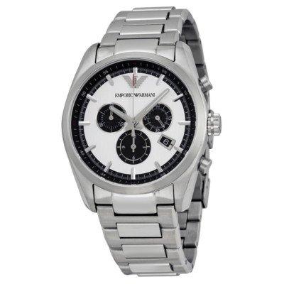 エンポリオアルマーニ腕時計/メンズ/AR6007/シルバーダイアル/スポーツ/クロノグラフ