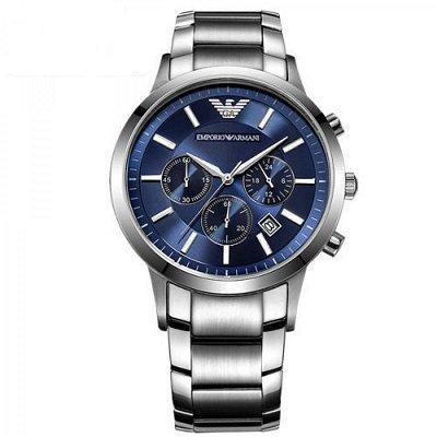 >エンポリオアルマーニ腕時計/メンズ/AR2448/ブルーダイアル/クラシック/クロノグラフ