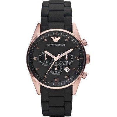 エンポリオアルマーニ腕時計/メンズ/AR5905/ブラックダイアル/スポーツ/クロノグラフ