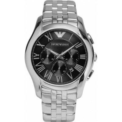 エンポリオアルマーニ腕時計/メンズ/AR1786/ブラックダイアル/クラシック/ギョーシェ模様/クロノグラフ