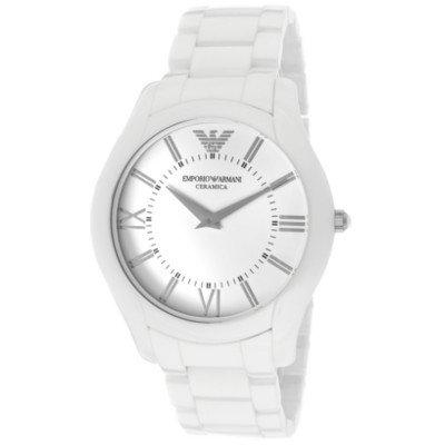エンポリオアルマーニ腕時計/メンズ/AR1442/ホワイトダイアル/セラミカ