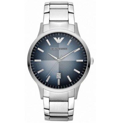 エンポリオアルマーニ腕時計/メンズ/AR2472/ネイビーダイアル/クラシック/アップライトバーインデックス