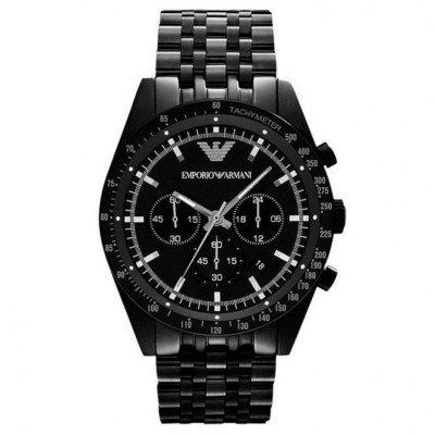 エンポリオアルマーニ腕時計/メンズ/AR5989/ブラックダイアル/スポーツ/クロノグラフ