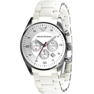 エンポリオアルマーニ腕時計/メンズ/AR5859/ホワイトダイアル/スポーツ/クロノグラフ