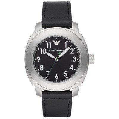 【海外限定モデル】エンポリオアルマーニ腕時計/メンズ/AR6057/ブラックダイアル/スポーツ/アラビアンインデックス