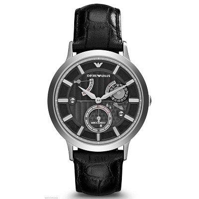 【日本未発売】エンポリオアルマーニ腕時計/メンズ/AR4664/ブラックダイアル/メカニコ/自動巻き/スモールセコンド