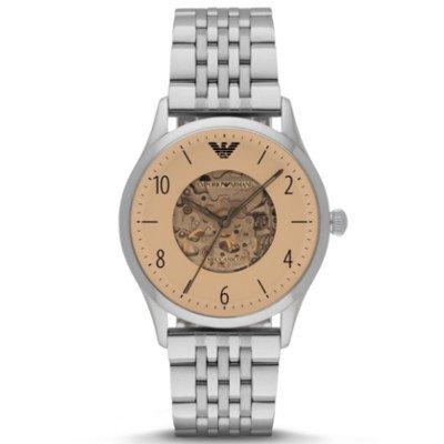 【日本未発売】エンポリオアルマーニ腕時計/メンズ/AR1922/ゴールドダイアル/メカニコ/自動巻き/スケルトンダイアル