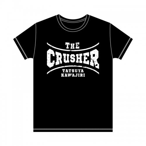 <img class='new_mark_img1' src='https://img.shop-pro.jp/img/new/icons1.gif' style='border:none;display:inline;margin:0px;padding:0px;width:auto;' />川尻達也THE CRUSHER Tシャツ<ブラック>
