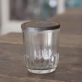 ヴィンテージボトル/ロゴ入りフタ付/Ball Jelly Glass/USA