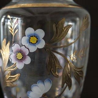 花瓶/フランス/フラワーペイント/ゴールド