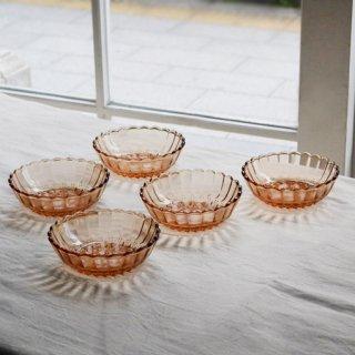 ピンクガラス/うつわ/推定昭和30年代