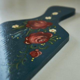 木製ボード/ディスプレイボード/花ペイント/ポーランド/ワルシャワ
