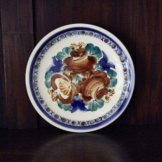 花絵皿/飾り皿/ヴウォツワヴェク陶器/ファイヤンス焼き/ポーランド/ワルシャワ