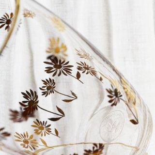 HOYAガラスコップ/マーガレット/ゴールド