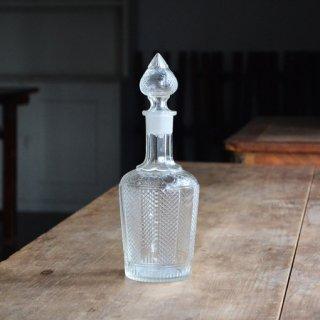 ガラスボトル/水差し/蓋付き/ヴィンテージ