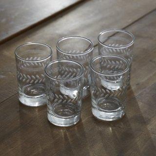 ミニガラスコップ/4個セット/カナダ/ヴォンテージ