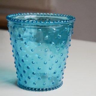 ガラスキャンドルホルダー大/ライトブルー/カナダ