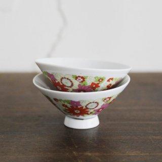 Shinano China/レトロ花柄茶碗/ヴィンテージ食器