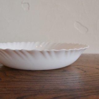 arcopal(アルコパル)/フランス/浅皿/白/ヴィンテージ食器