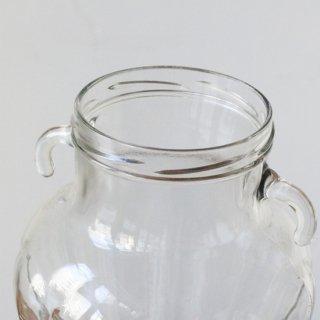 ガラス瓶/大/蓋 . 取っ手付き/ヴィンテージ