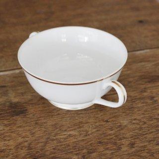 スープカップ/2個セット/持ち手付き/金淵/ヴィンテージ