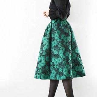 【1月12日(日)20時〜SALE】ジャガードフワラーふんわりスカート