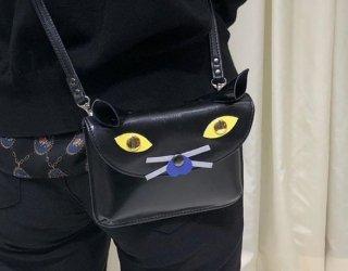 黒猫のショルダーバッグ