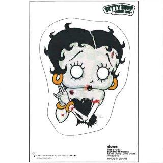Betty Boop ステッカー【KISS ME】  BB