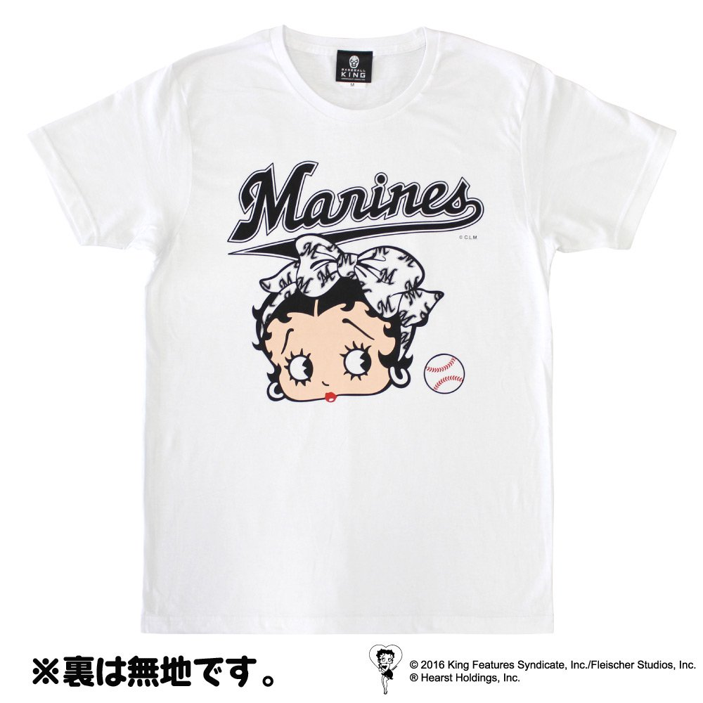 【生産終了品】BETTY BOOP×マリーンズ Tシャツ(ホワイト)L  BB