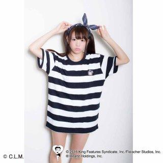【生産終了品】BETTY BOOP×マリーンズ Tシャツ(ワッペンボーダー)M  BB