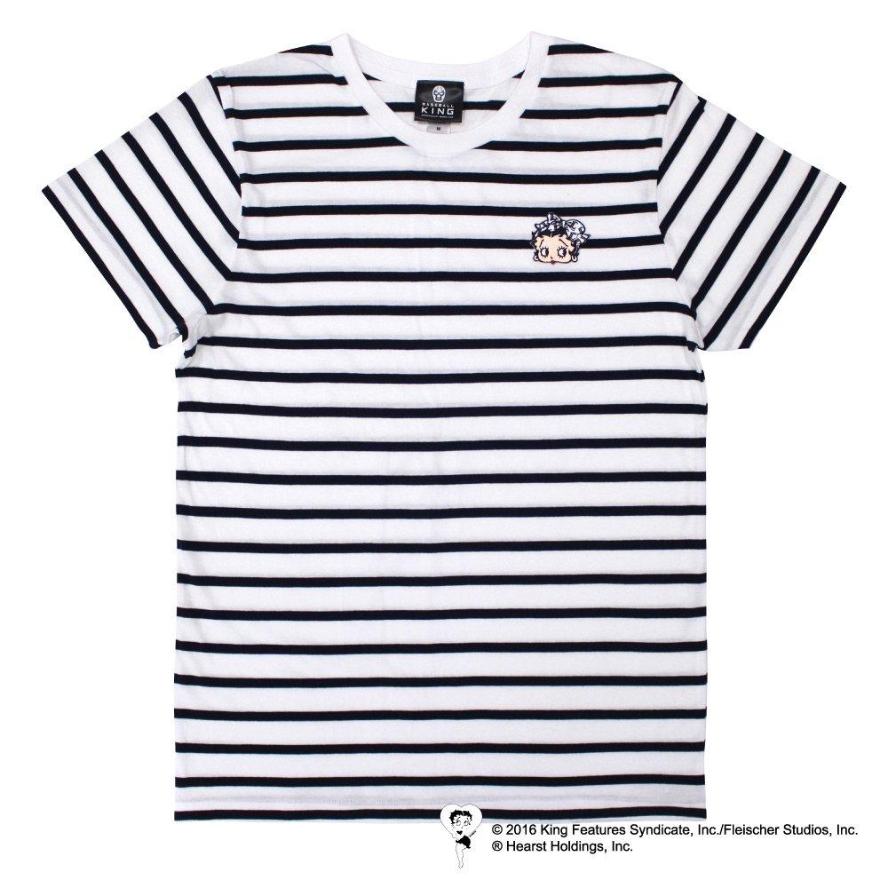 【生産終了品】BETTY BOOP×ライオンズ Tシャツ(ワッペンボーダー)S  BB