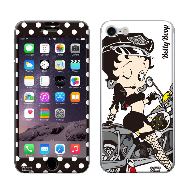 iPhone7/8対応 Gizmobies(シールプロテクターカバー)BLACK BIKE ZN-0001-IP07 BB