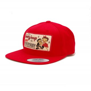 【SW×BETTY BOOP】ワッペンキャップ(レッド) BTYH-02 BB