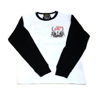 【生産終了品】【SKULL WORKS】スターターベティー ロングTシャツ(ホワイト×ブラック)M BTY-23 BB