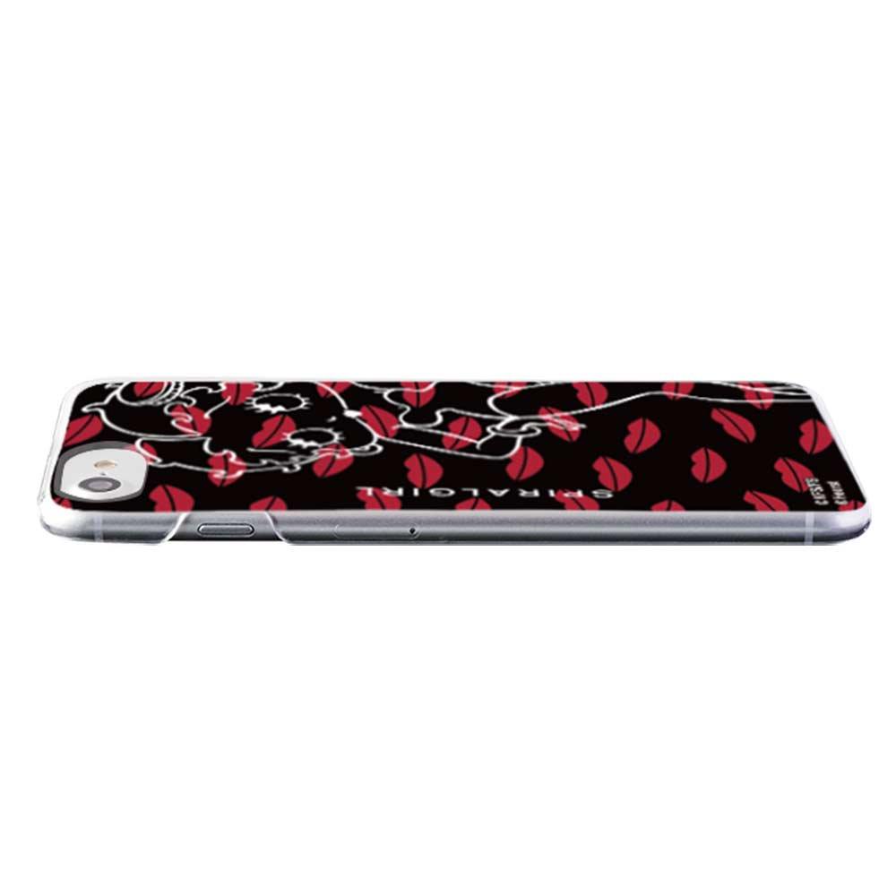 【SPIRALGIRLコラボ】iPhone8/7/6s/6対応 背面ケース(KISS AND MAKE UP CLEAR)AB-0865-IP07 BB