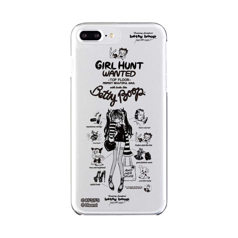 【JENNY KAORIコラボ】iPhone8Plus/7Plus対応 背面ケース(BETTY BABY CLEAR)AB-0868-IP7P BB