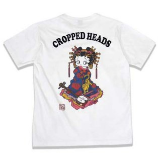 【CROPPED HEADS】花魁ベティーTシャツ(ホワイト)M BTY-29 BB