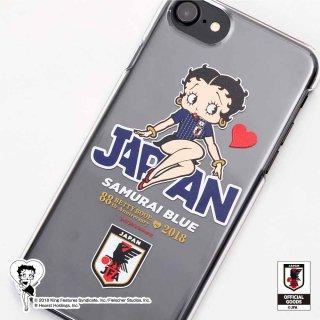 【生産終了品】【Betty Boop×侍ブルー】iPhone6/6s/7/8対応スマホケース(サッカー日本代表ver.) BB