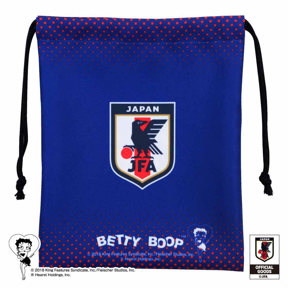 【Betty Boop×侍ブルー】巾着(サッカー日本代表ver.)BB