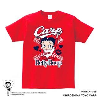 【BETTY BOOP×カープ】Tシャツ(L)  BB