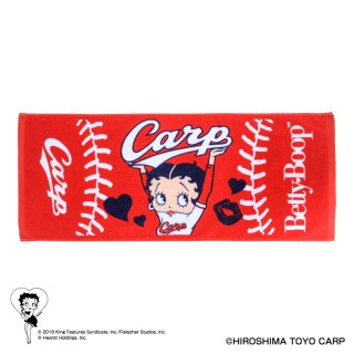 <img class='new_mark_img1' src='https://img.shop-pro.jp/img/new/icons11.gif' style='border:none;display:inline;margin:0px;padding:0px;width:auto;' />【BETTY BOOP×カープ】フェイスタオル  BB