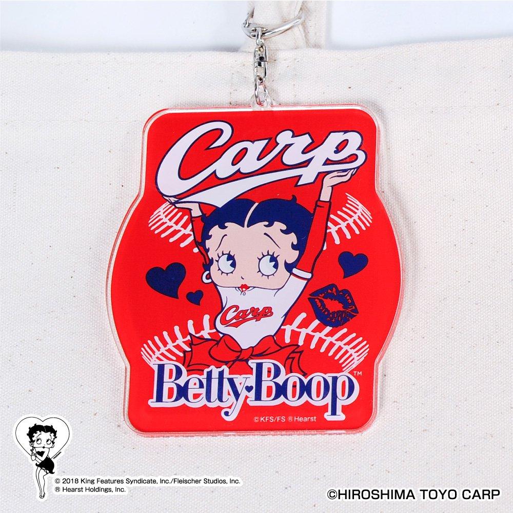【BETTY BOOP×カープ】アクリルキーホルダー  BB