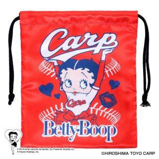 【生産終了品】【BETTY BOOP×カープ】巾着  BB
