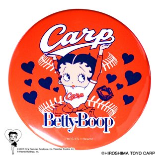 【生産終了品】【BETTY BOOP×カープ】ドデカ缶バッジ BB