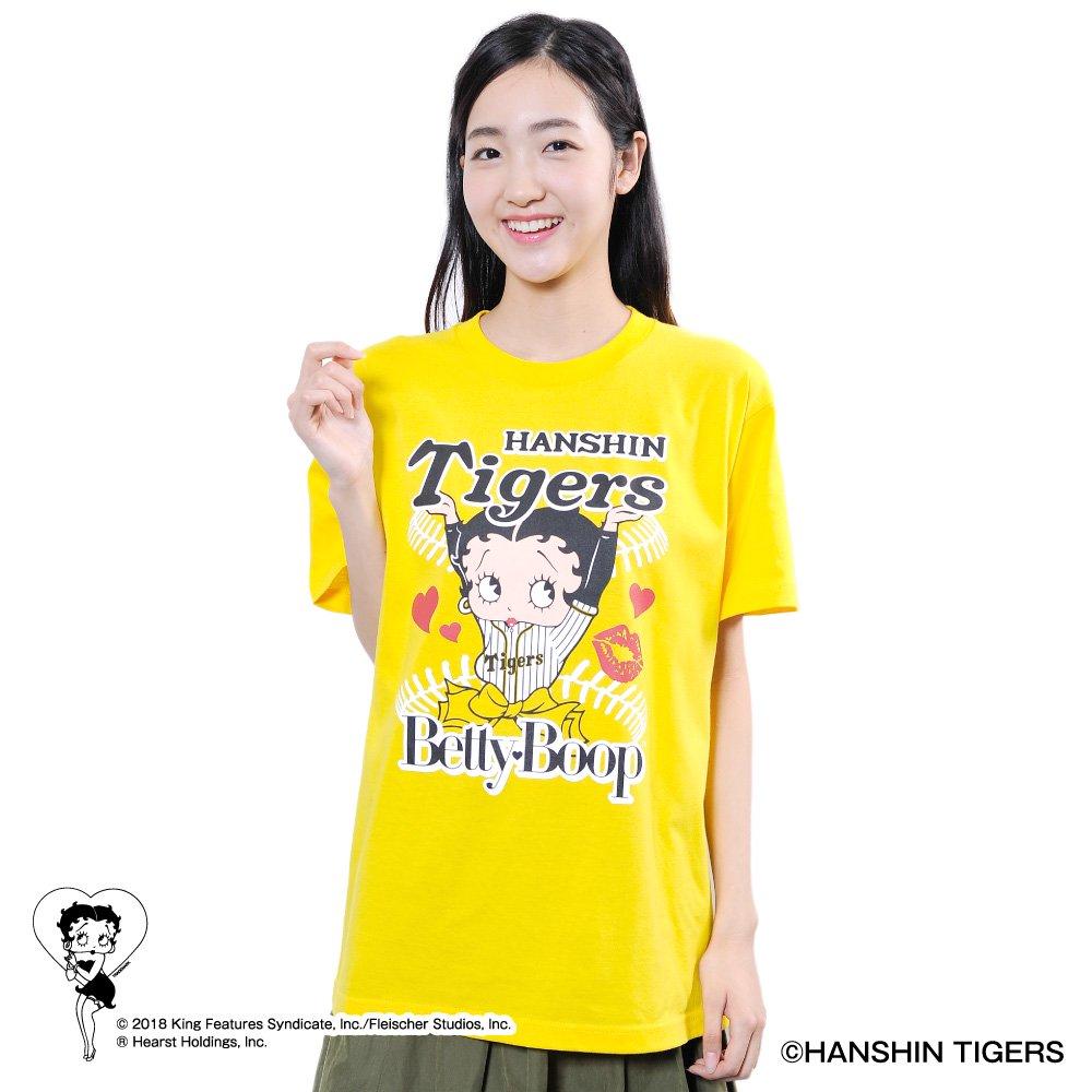 【BETTY BOOP×タイガース】Tシャツ(L)  BB
